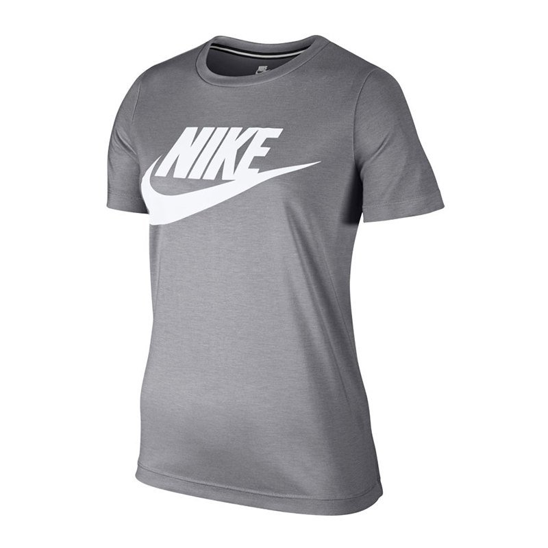 nike essential tee t shirt damen grau f027 damenkleidung hemd shirt. Black Bedroom Furniture Sets. Home Design Ideas