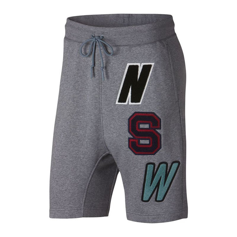 Nike Fleece Short Grau F091 - grau