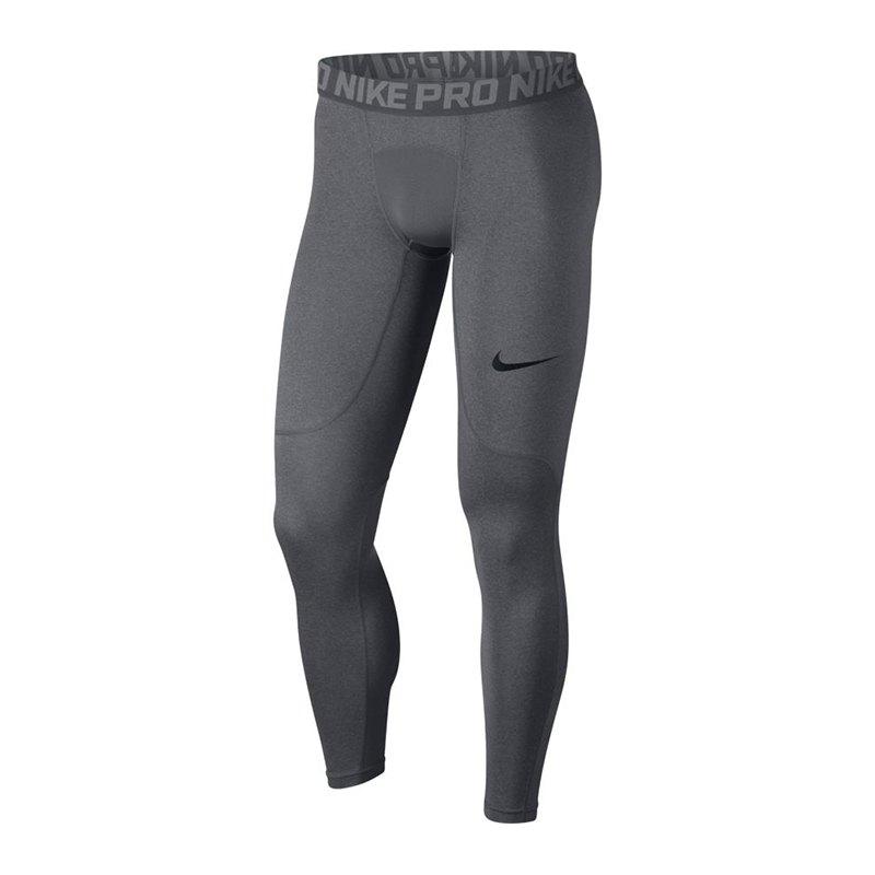Nike Pro Tight Hose lang Grau F091 - grau