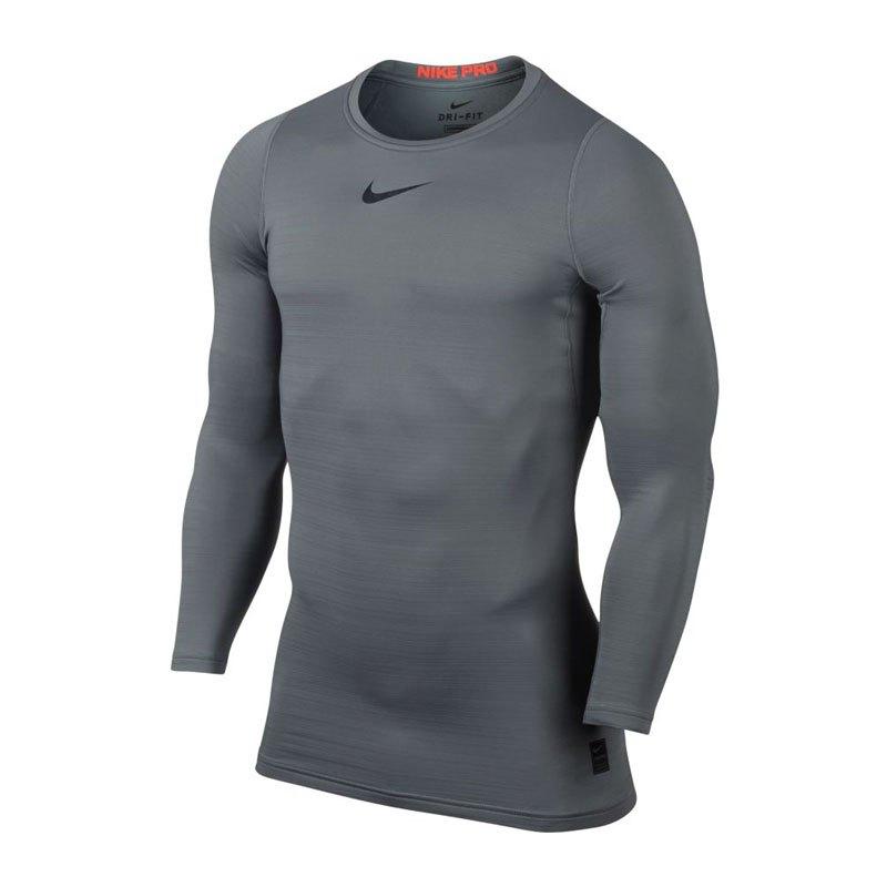 Nike Pro Warm Longsleeve Shirt Grau F065 - grau