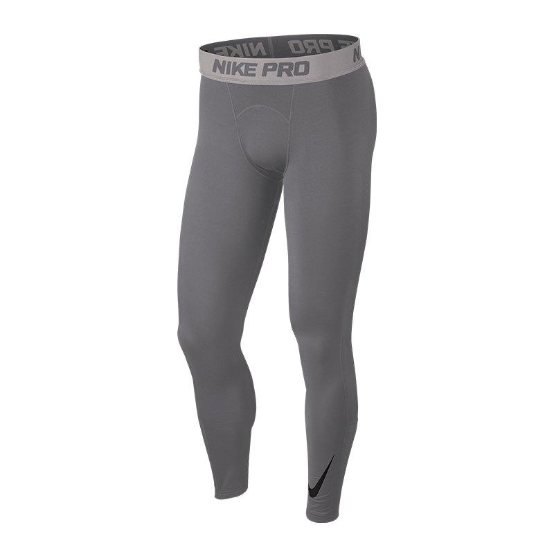 Nike Pro Warm Therma Tight Hose lang Grau F036 - grau