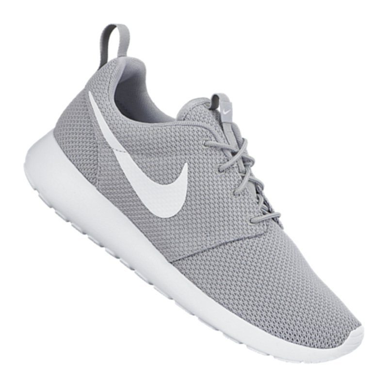 nike roshe run sneaker grau weiss f023 m nner men. Black Bedroom Furniture Sets. Home Design Ideas