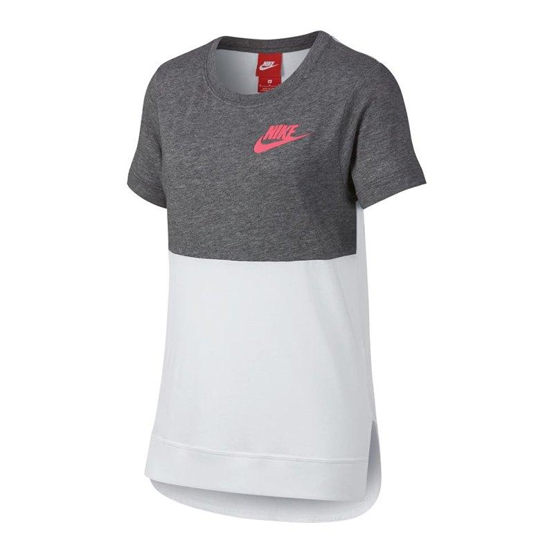 nike t shirt kids grau weiss f091 freizeitshirt shirt. Black Bedroom Furniture Sets. Home Design Ideas