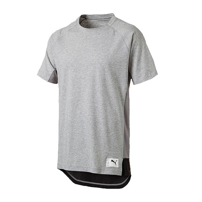 PUMA ftblNXT Casuals Graphic T-Shirt Grau F02 - grau