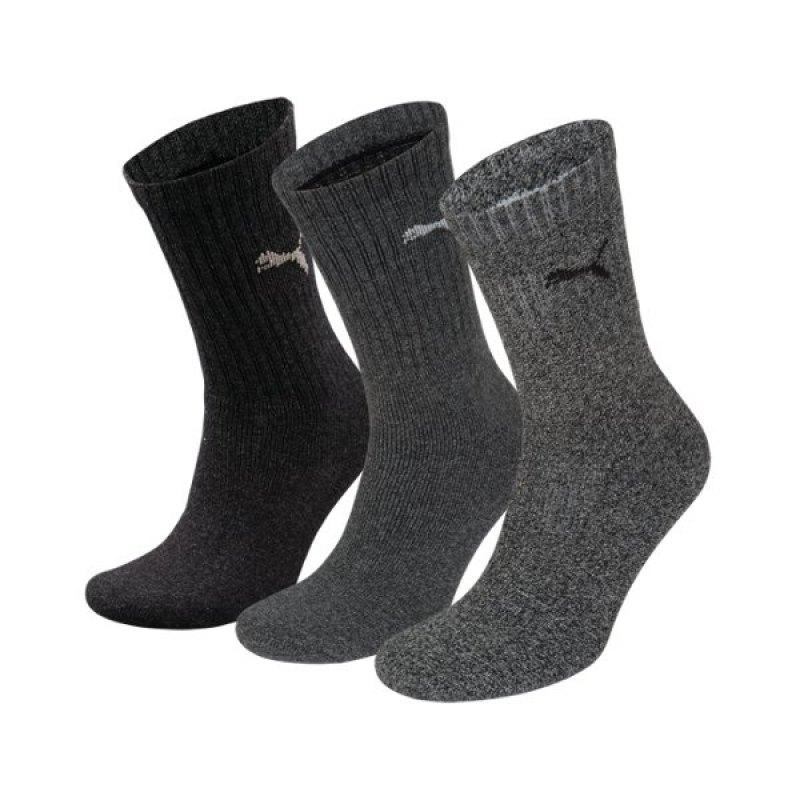 PUMA Sport 3er Pack Socken Grau F207 - grau