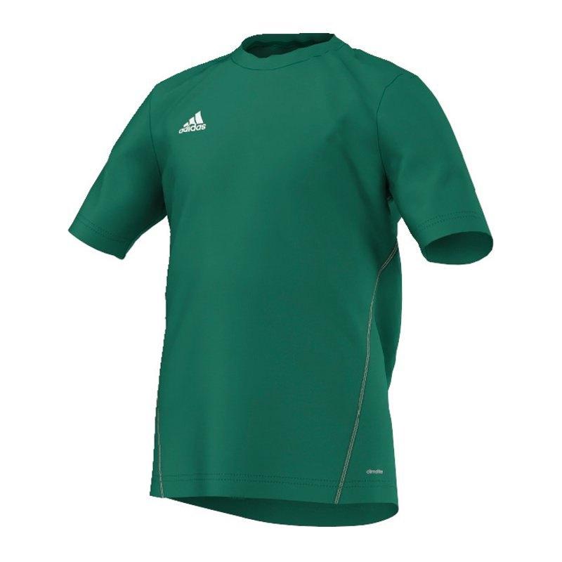 adidas Core 15 Trainingsshirt Kids Grün Weiss - gruen