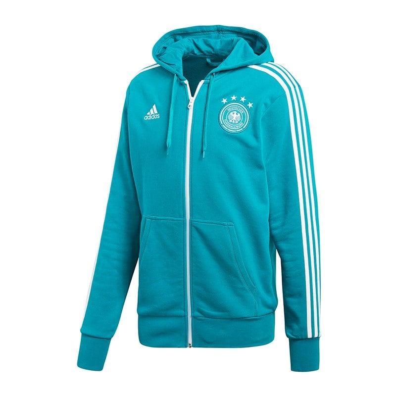 adidas DFB Deutschland Kapuzenjacke Grün - gruen