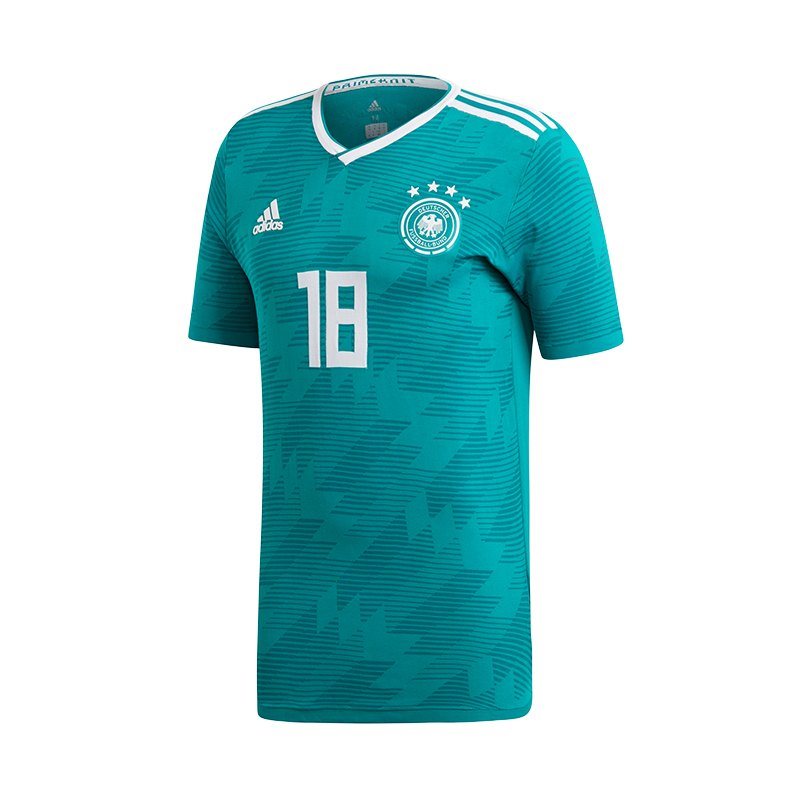 adidas DFB Deutschland Trikot Away Knit Grün - gruen