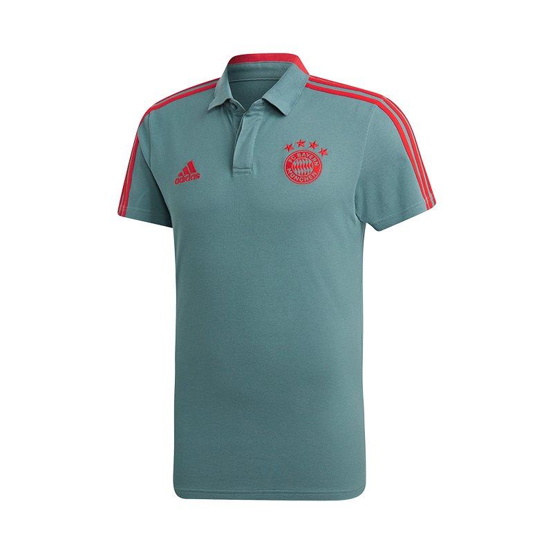adidas FC Bayern München Cotton Polo Grün Rot - gruen