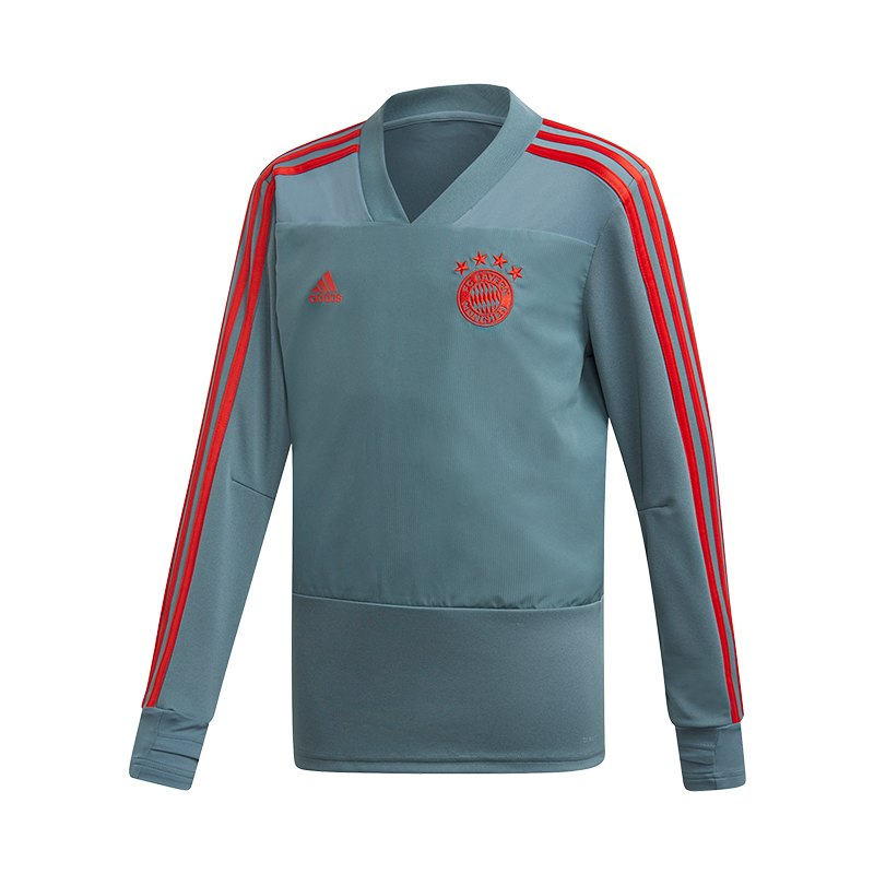 adidas FC Bayern München Training Sweatshirt Kids Grün - gruen