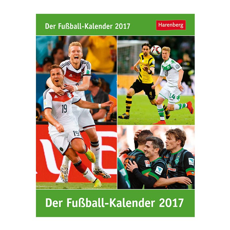 Der Fußball-Kalender 2017 - gruen