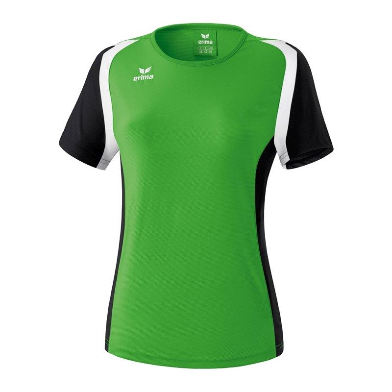 Erima Razor 2.0 T-Shirt Damen Grün Schwarz Weiss - gruen
