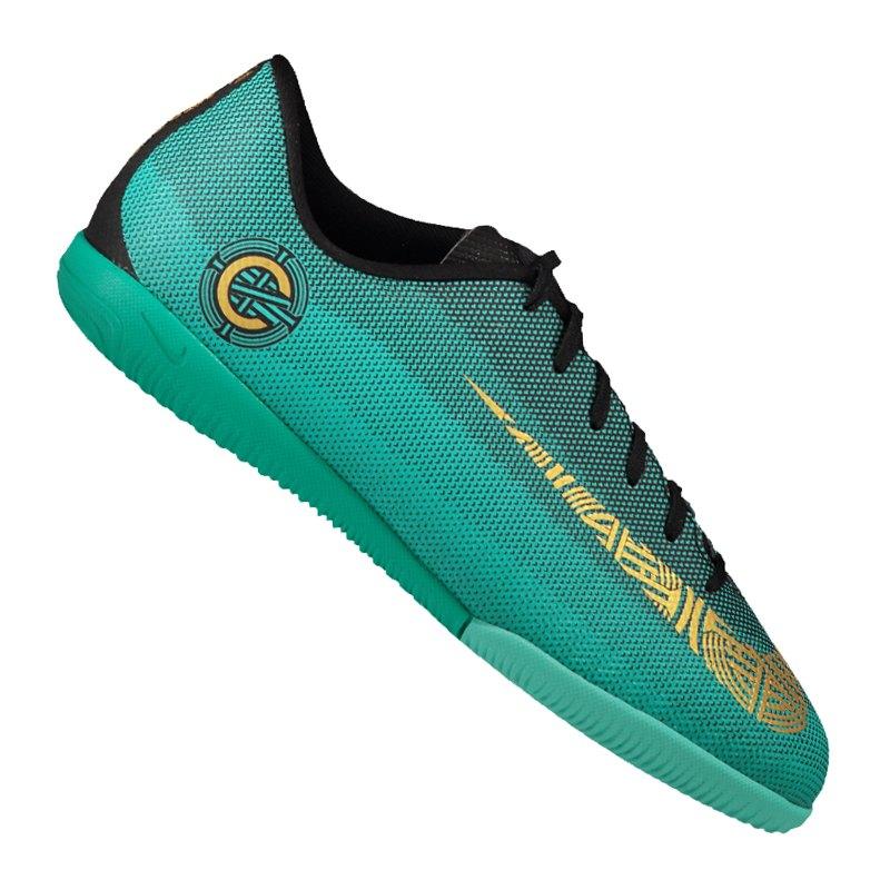 Nike Mercurial VaporX 12 Academy CR7 IC GSKids 390 - gruen