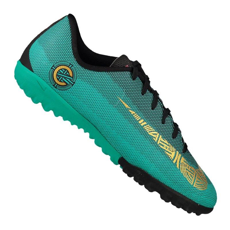 Nike Mercurial VaporX 12 Academy CR7 TF GSKids 390 - gruen