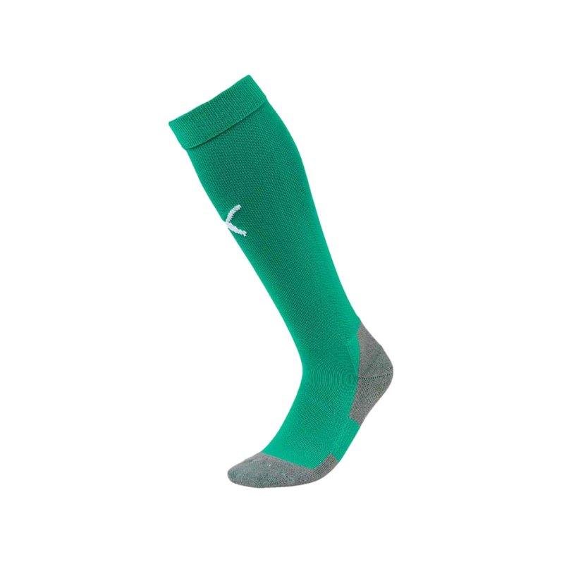 PUMA LIGA Socks Core Stutzenstrumpf Grün Weiss F05 - gruen