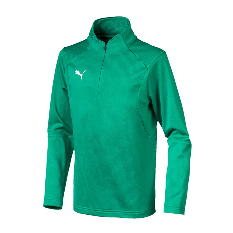 PUMA LIGA Training 1/4 Zip Top Sweatshirt Kids F05 - gruen