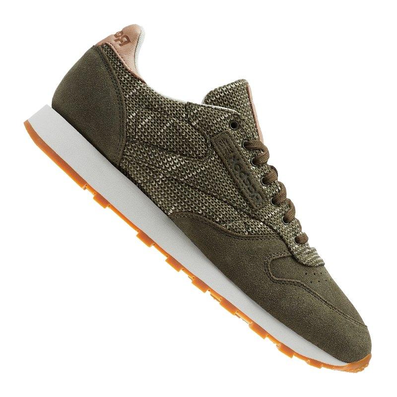 reebok classic leather ebk sneaker gr n laufen. Black Bedroom Furniture Sets. Home Design Ideas