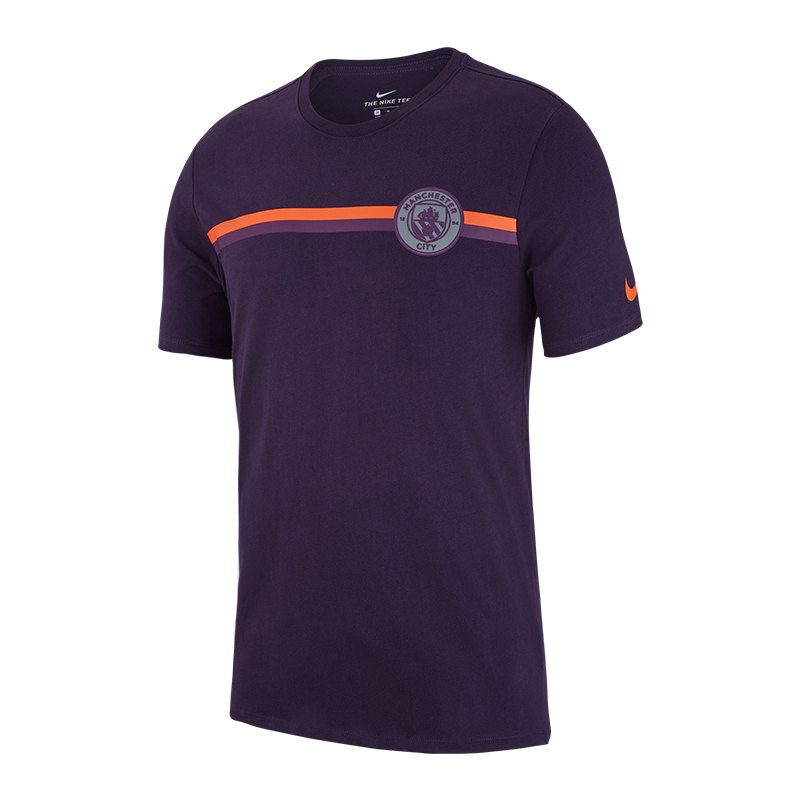 Nike Manchester City Crest Tee T-Shirt Lila F524 - lila