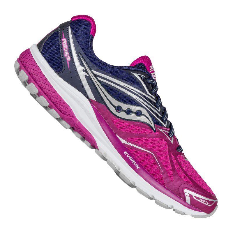 Saucony Ride 9 Running Damen Lila Pink F12 - lila