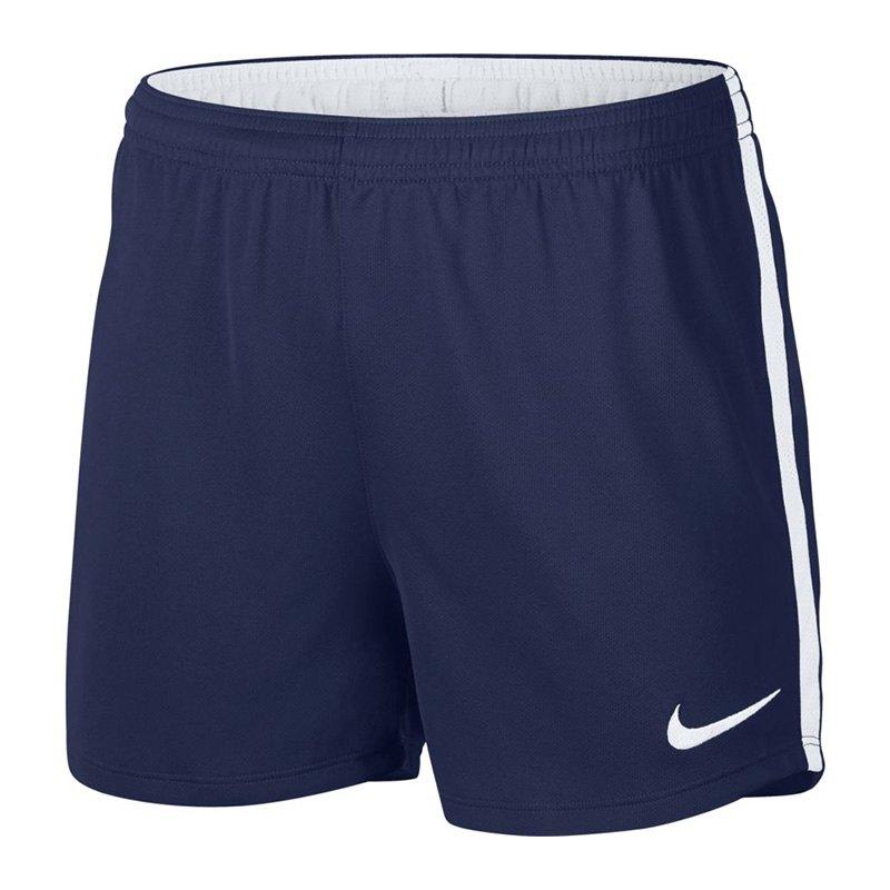 nike dry academy football short damen blau f429. Black Bedroom Furniture Sets. Home Design Ideas