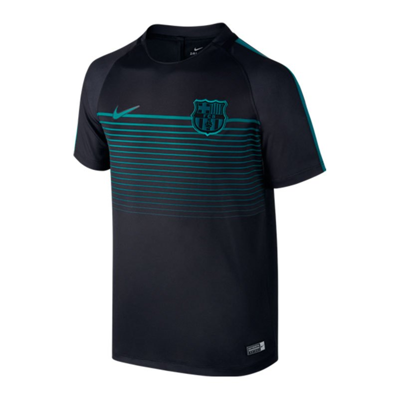 Nike fc barcelona football top t shirt kids f014 schwarz for Nike youth football t shirts
