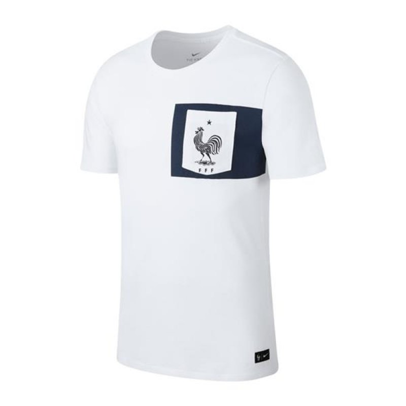 nike frankreich crest tee t shirt weiss f100. Black Bedroom Furniture Sets. Home Design Ideas
