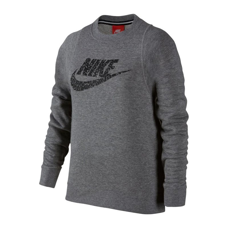 nike modern crew sweatshirt kids grau f091 equipment. Black Bedroom Furniture Sets. Home Design Ideas