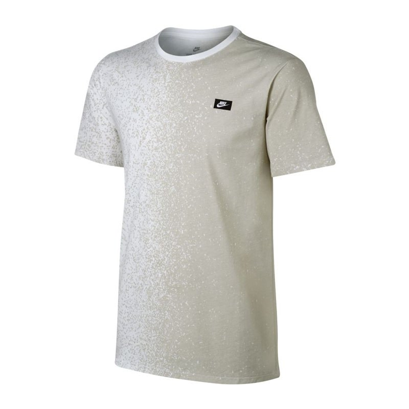 nike modern tee t shirt weiss beige f100 sportkleidung. Black Bedroom Furniture Sets. Home Design Ideas