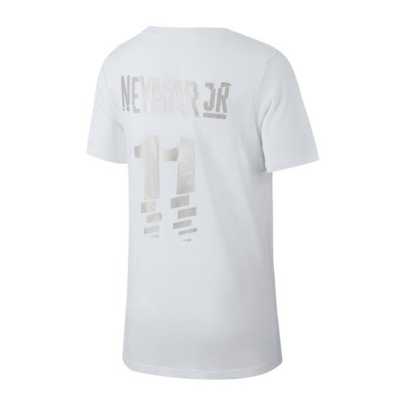 nike neymar dry tee t shirt kids weiss f100 weiss. Black Bedroom Furniture Sets. Home Design Ideas