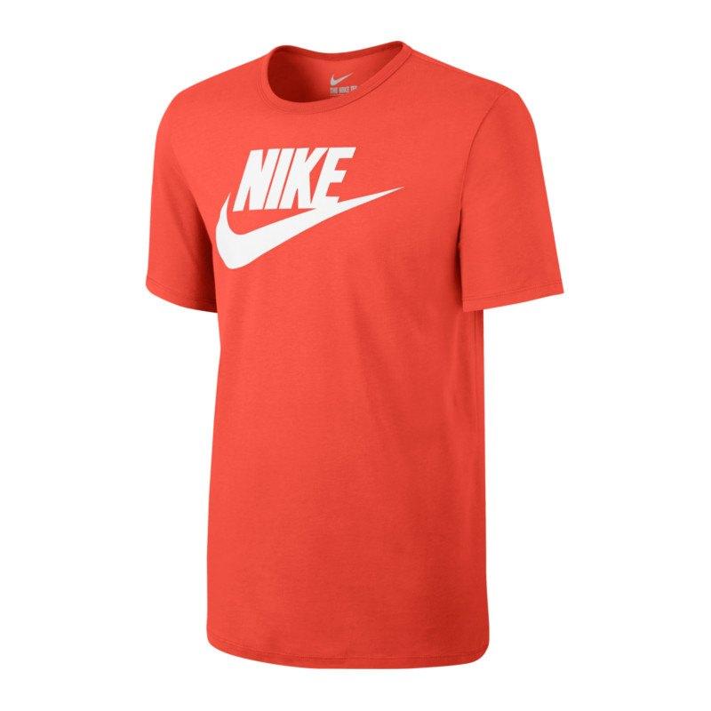 nike tee futura icon t shirt orange weiss f852 orange. Black Bedroom Furniture Sets. Home Design Ideas