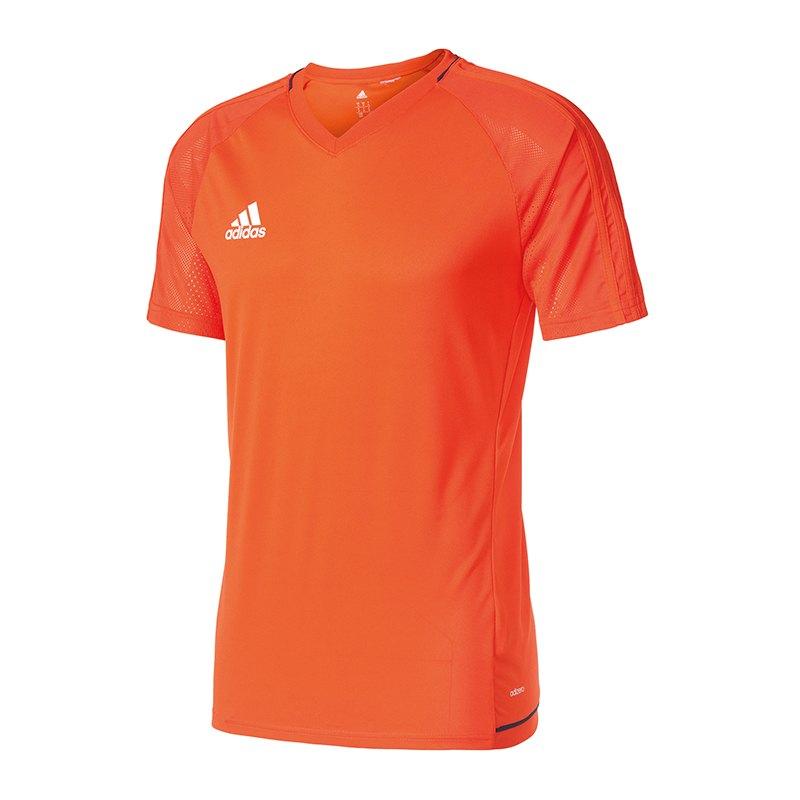 adidas Tiro 17 Trainingsshirt Orange Blau - orange