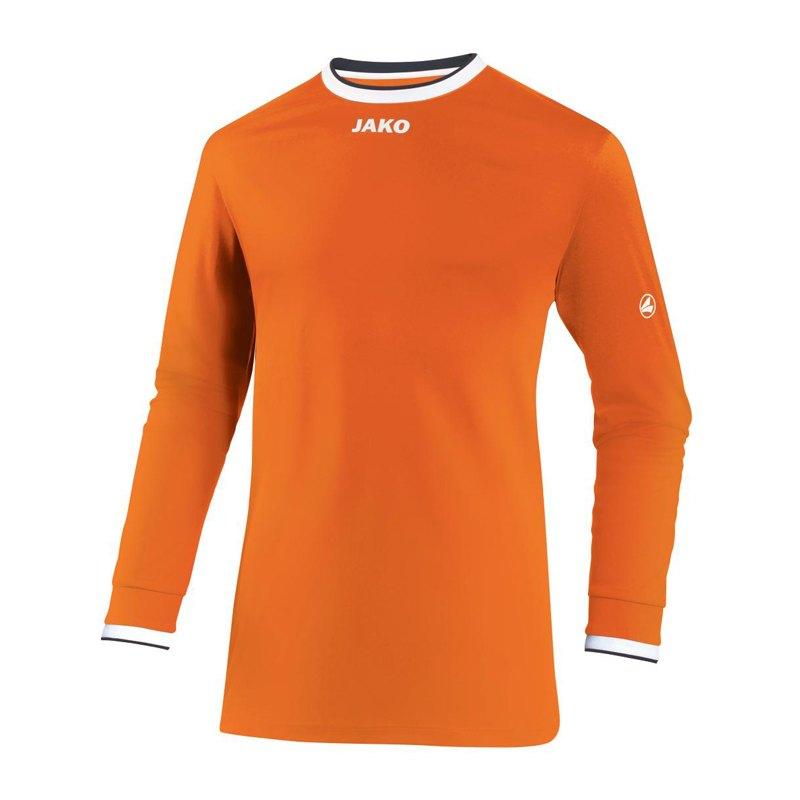 Jako United Trikot langarm Orange Weiss F19 - orange