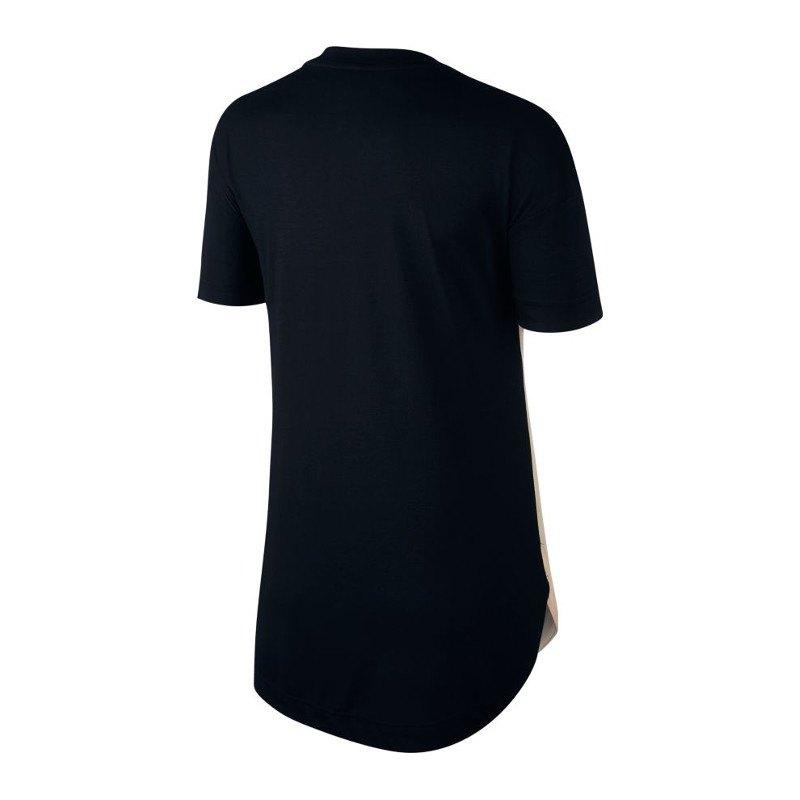 nike air tee t shirt damen orange schwarz f825 lifestyle. Black Bedroom Furniture Sets. Home Design Ideas