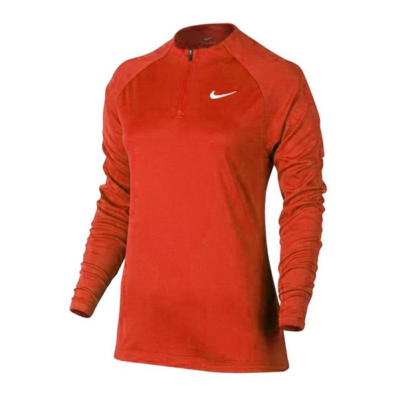 Nike Drill Football Top 1/4 Zip langarm Damen F852 - orange