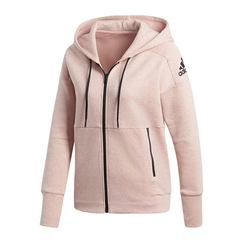 adidas kapuzenjacke damen rosa id stadium hoodie. Black Bedroom Furniture Sets. Home Design Ideas