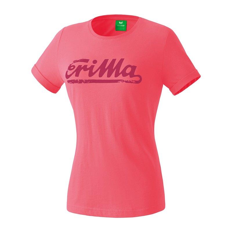 Erima Retro T-Shirt Damen Rosa - rosa