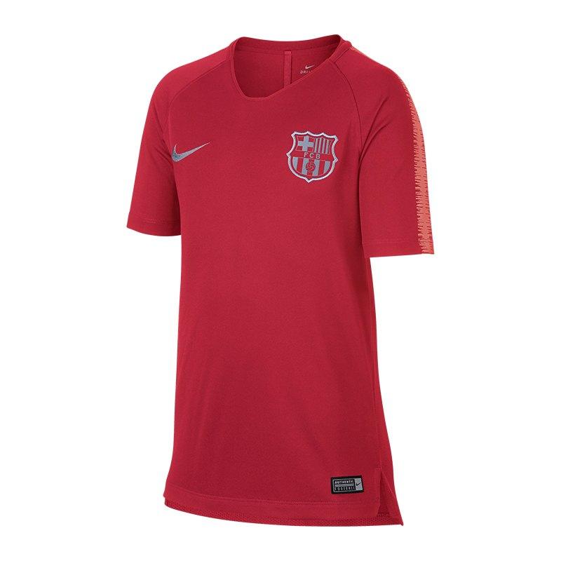 Nike FC Barcelona Breathe Squad T-Shirt Kids F691 - rosa