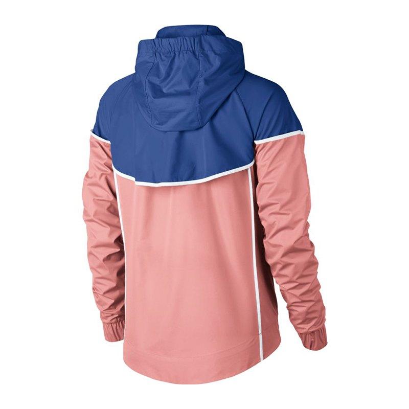 nike windrunner jacket jacke damen rosa blau f697 lifestylejacke jacket lifestylekleidung. Black Bedroom Furniture Sets. Home Design Ideas
