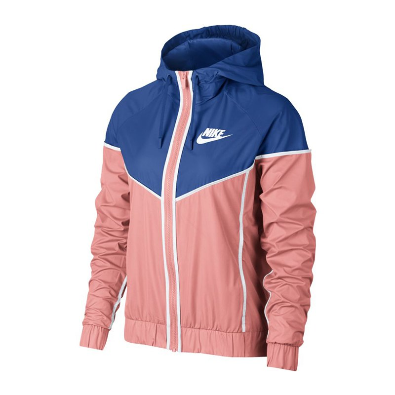nike windrunner jacket jacke damen rosa blau f697 lifestylejacke jacket lifestylekleidung. Black Bedroom Furniture Sets. Home Design Ideas