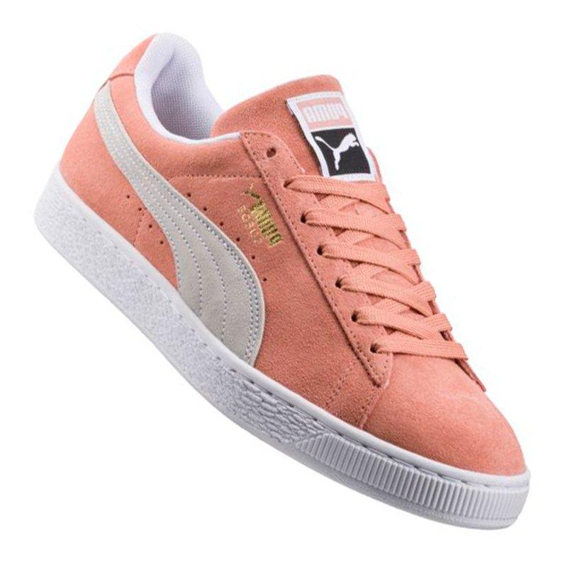 puma suede classic sneaker rosa weiss f06 slipper. Black Bedroom Furniture Sets. Home Design Ideas