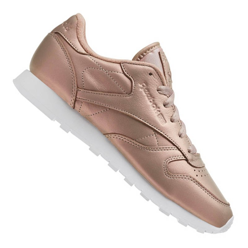 Reebok Classic Leather Pearlized Damen Rosa Weiss - rosa