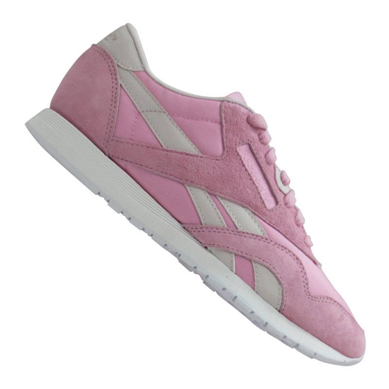 reebok classic nylon x face sneaker damen rosa rosa. Black Bedroom Furniture Sets. Home Design Ideas