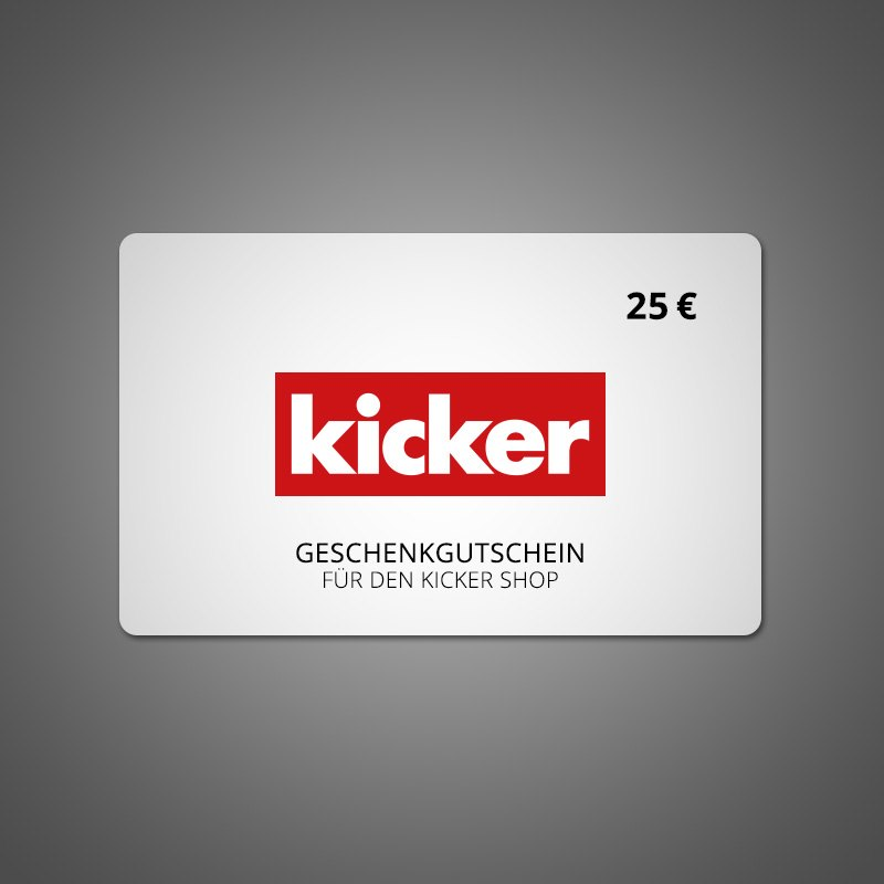 25€ Gutschein - rot