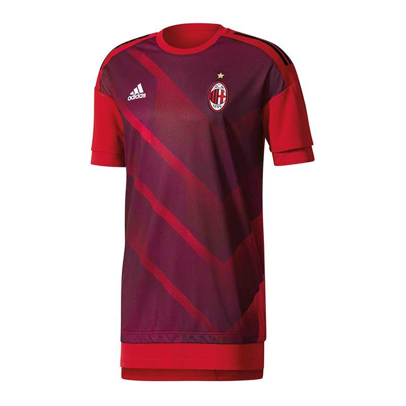 adidas AC Mailand Pre-Match Shirt Rot Schwarz - rot