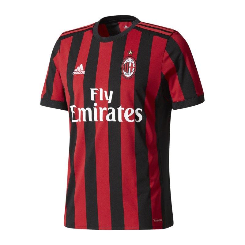 adidas AC Mailand Trikot Home Kids 2017/2018 Rot - rot