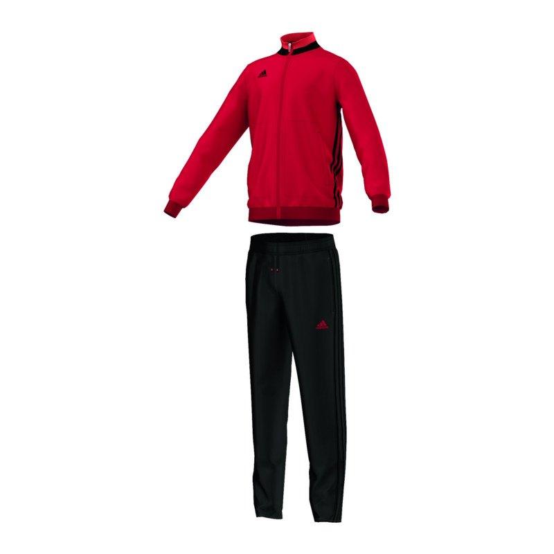 adidas Condivo 16 Trainingsanzug Kids Rot Schwarz - rot