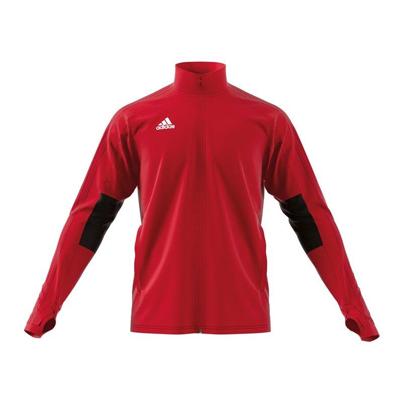 adidas Condivo 18 Trainingsjacke Rot Schwarz Weiss - rot