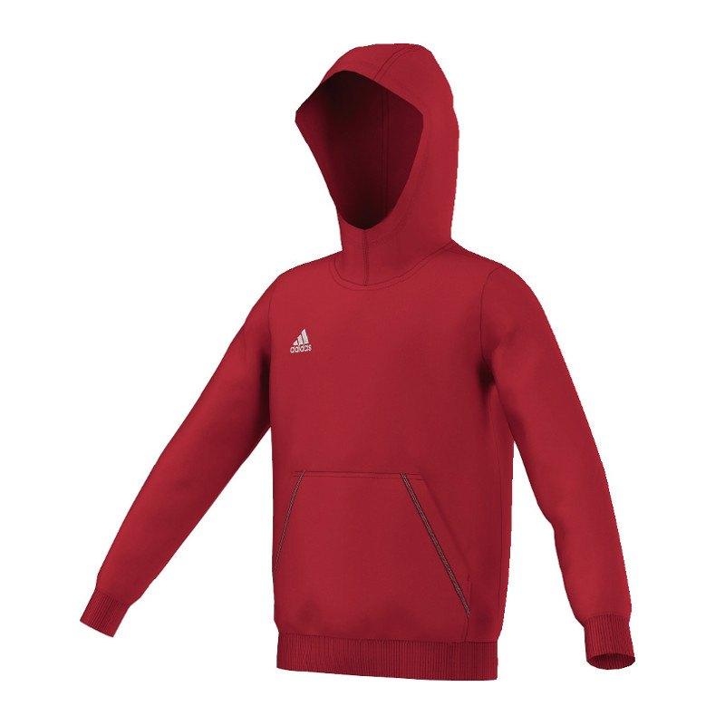 adidas Core 15 Hoody Sweatshirt Kids Rot - rot