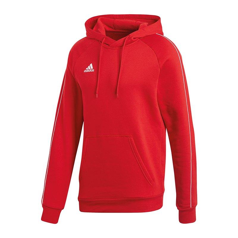 adidas Core 18 Hoody Kapuzensweatshirt Rot Weiss - rot