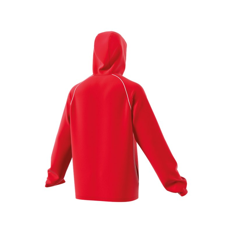 adidas jacke rot weiss core 18 rain jacket. Black Bedroom Furniture Sets. Home Design Ideas